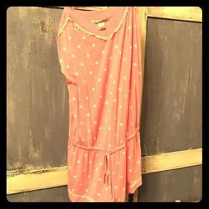 VS cute pink with white dots romper Sz M